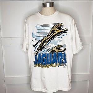Vtg Single Stitch Jacksonville Jaguars T-Shirt XL